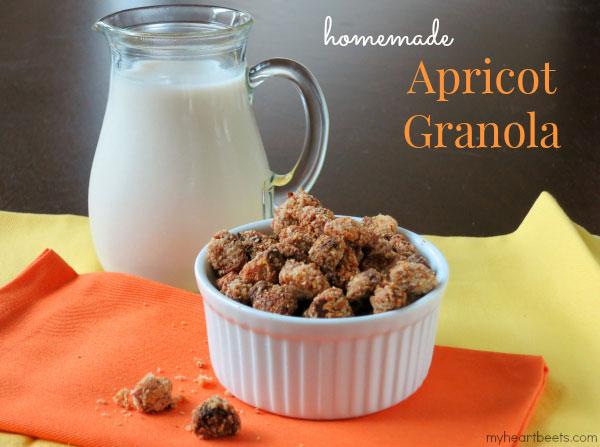 homemade apricot granola myheartbeets.com