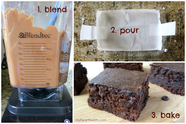 make these paleo friendly brownies in your blender! myheartbeets.com