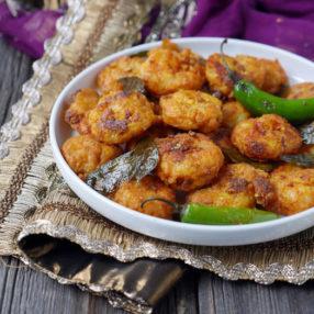 Shrimp 65: Indian-spiced fried shrimp by Ashley of myheartbeets.com