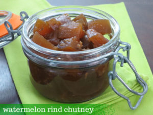 watermelon rind chutney by myheartbeets.com