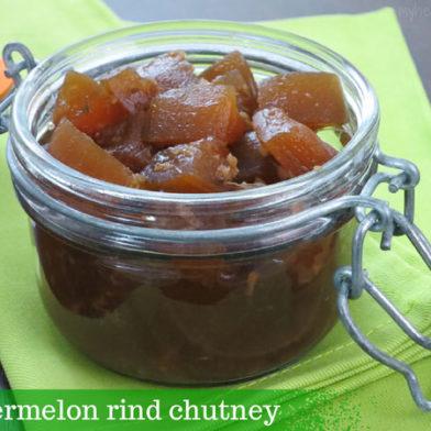 watermelon rind chutney by myheartbeets.com