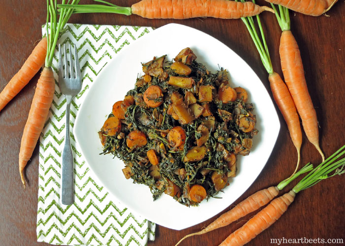 A dish made with carrot tops! Simple & tasty! myheartbeets.com