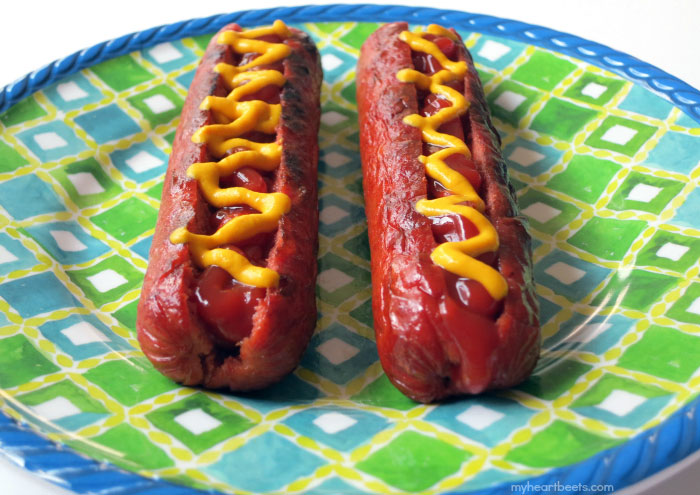 4 ways to eat a hot dog without a bun by myheartbeets.com