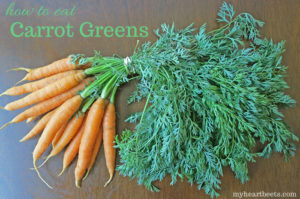 How to eat carrot tops by myheartbeets.com