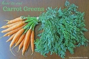 How to eat Carrot Greens: Carrot Top Sabzi