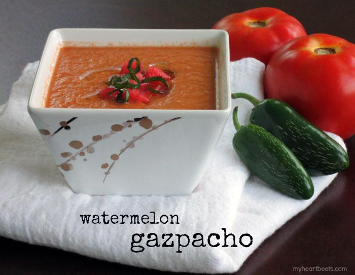 watermelon gazpacho by myheartbeets.com