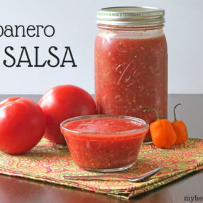 a spicy, fermented Habanero Salsa by myheartbeets.com