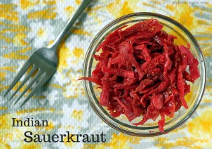 Indian Sauerkraut by myheartbeets.com