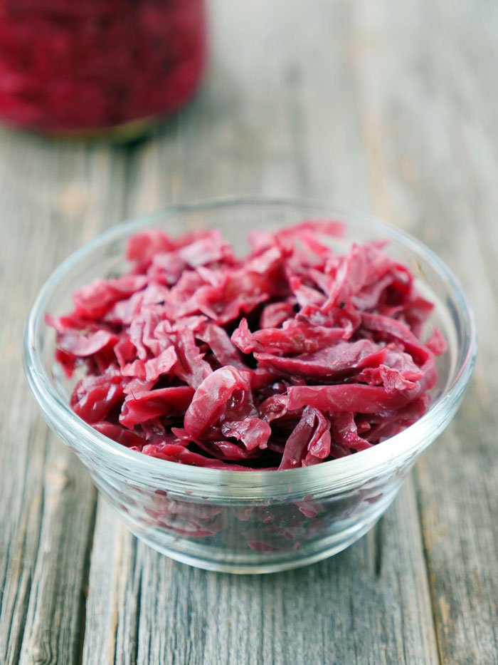 Indian Sauerkraut by Ashley Singh of myheartbeets.com