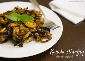 Karela Stir-fry (Bitter Melon)