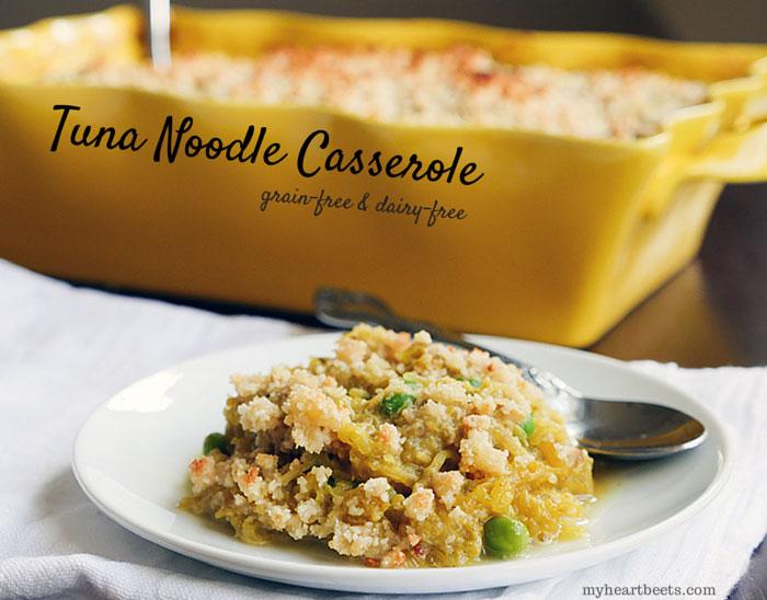 tuna noodle casserole (paleo) by myheartbeets.com