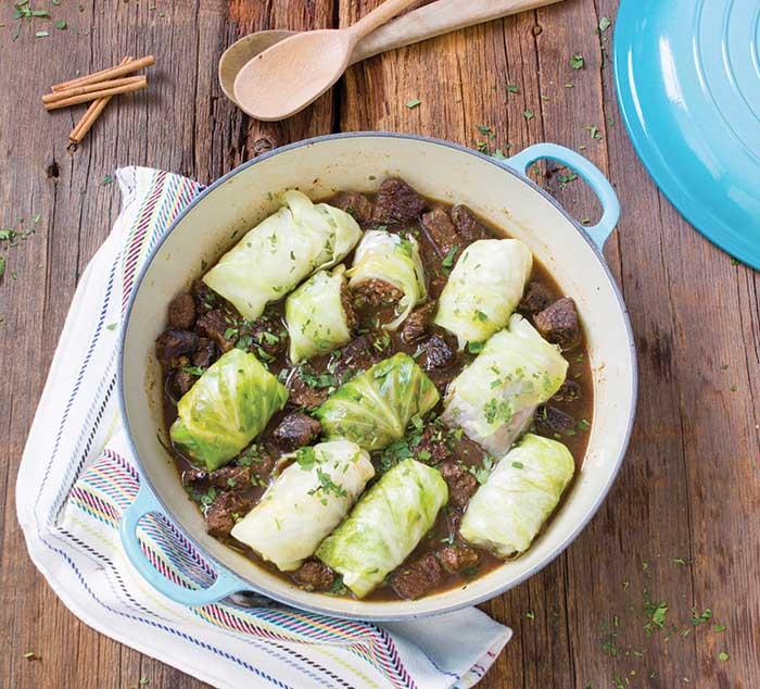 cabbage dolmas mediterranean paleo - myheartbeets.com