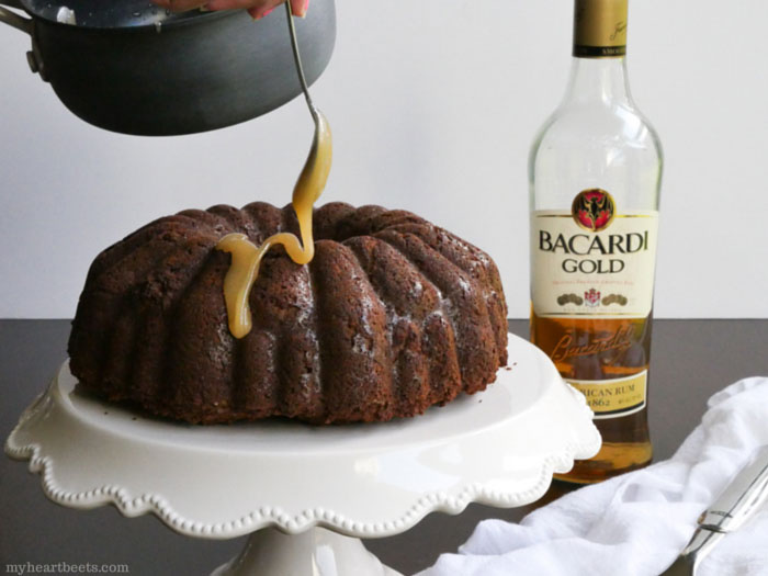 Grain-free and Dairy-free Rum Cake by myheartbeets.com