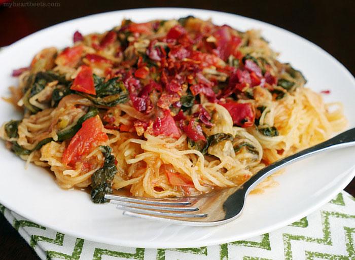 "Italian Swiss Chard ""Spaghetti"" (Squash) by myheartbeets.com"