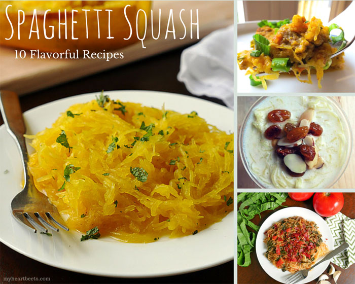 10 flavorful spaghetti squash recipes by myheartbeets.com