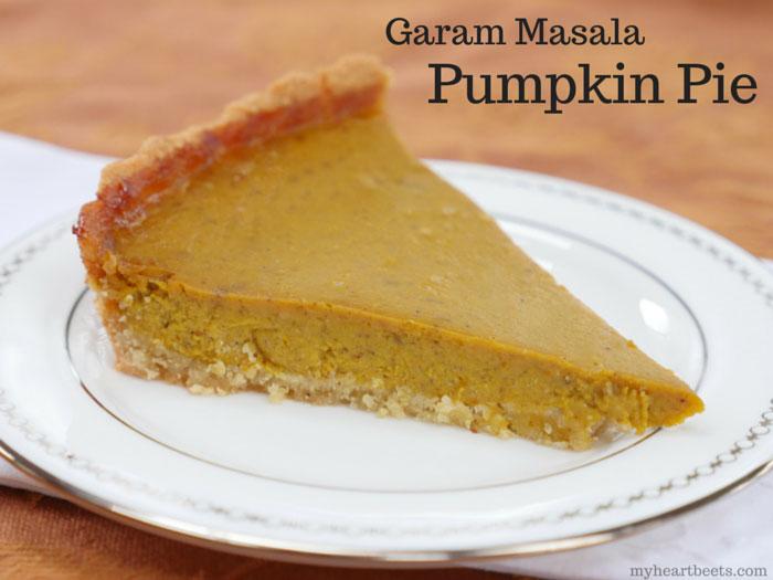 garam masala pumpkin pie myheartbeets.com