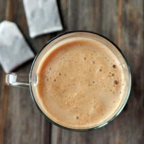 Buttered Chai (similar to bulletproof coffee - but chai) by Ashley of myheartbeets.com