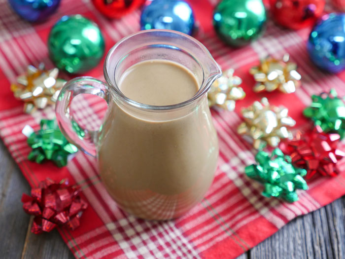 This Gingerbread Coffee Creamer is dairy-free and paleo-friendly. Recipe by Ashley of MyHeartBeets.com