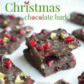 Christmas Bark made with sweet spices and nuts (paleo) by myheartbeets.com