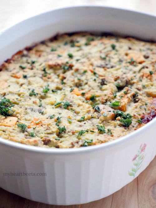 Paleo Bread Casserole by myheartbeets.com