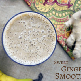 Sweet Ginger Smoothie by myheartbeets.com