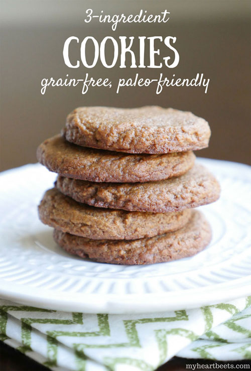 3-ingredient paleo cookie by myheartbeets.com