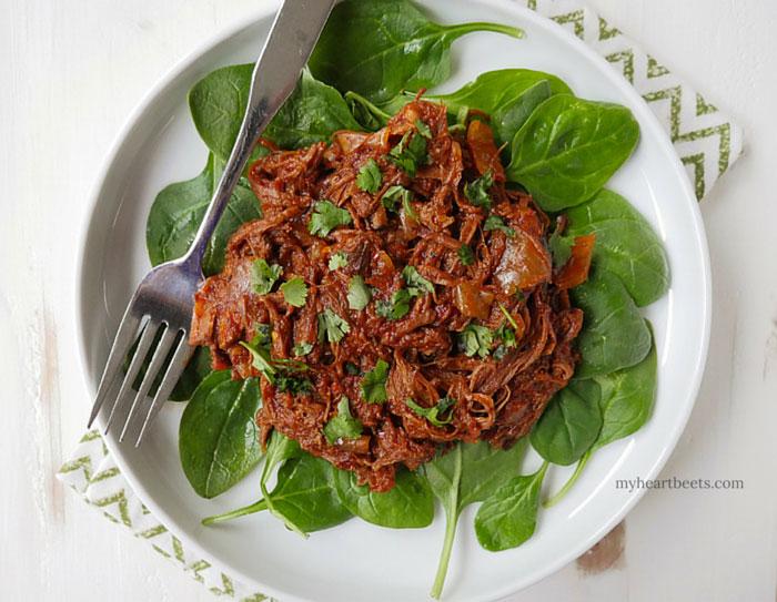 easy beef marinara roast by myheartbeets.com