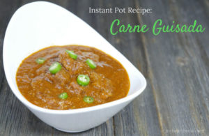 Instant Pot Pressure Cooker Recipe: Carne Guisada on myheartbeets.com