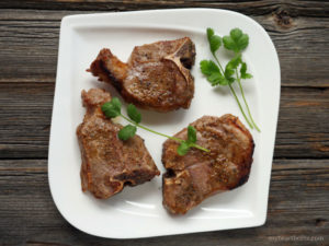 recipe for goat loin chops by myheartbeets.com