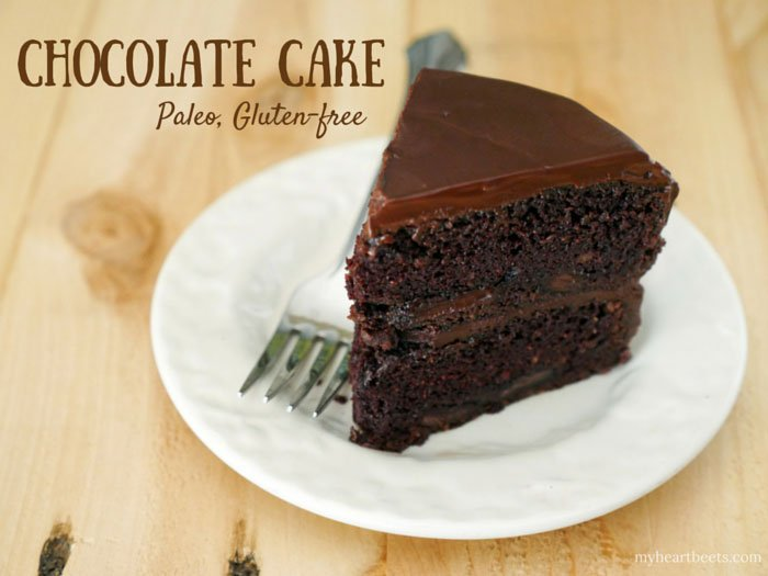 Paleo Chocolate Cake by My Heart Beets