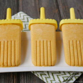 creamy mango popsicles by myheartbeets.com