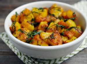Indian Fried Dill Potatoes