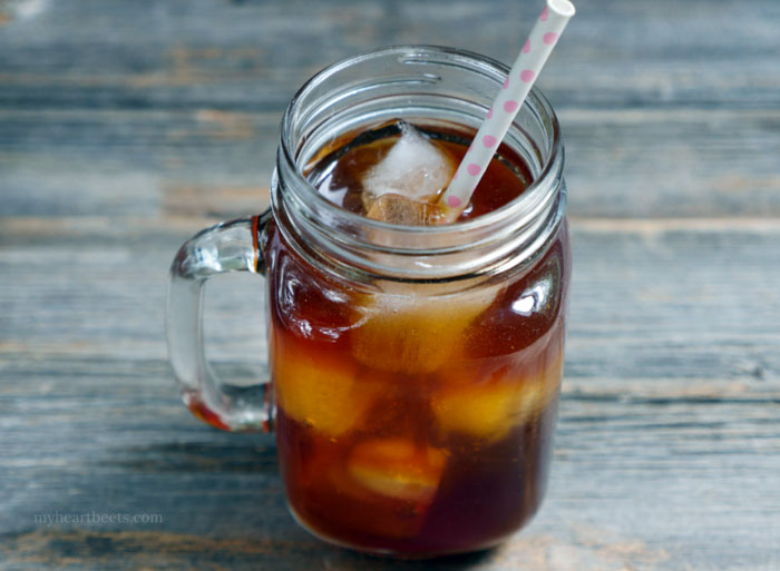 spiced cacao cold brew coffee by myheartbeets.com