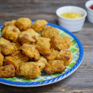 baked paleo chicken nuggets by myheartbeets.com