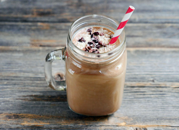 Frozen Coconut Mocha on myheartbeets.com