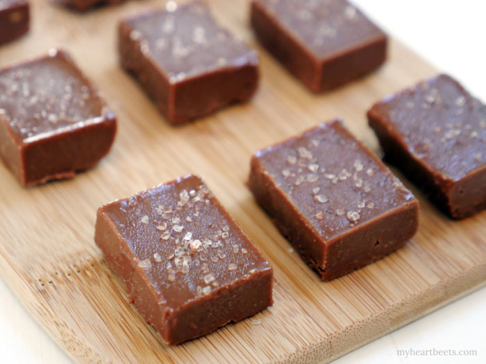 Tahini Fudge by myheartbeets.com