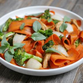 Carrot Drunken Noodles by MyHeartBeets.com