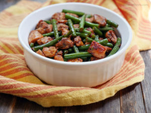 Chipotle Chicken and Green Beans by MyHeartBeets.com
