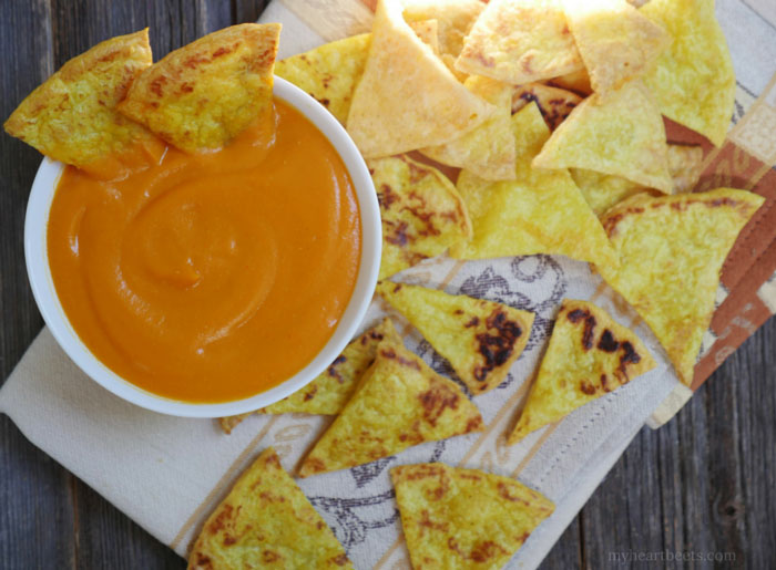 "This Sweet Potato Nacho ""Cheese"" is dairy-free, vegan, paleo . Recipe by Ashley of MyHeartBeets.com"