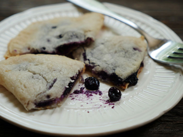 Blueberry and Goat Cheese Hand Pie - paleo, gluten-free, grain-free by MyHeartBeets.com