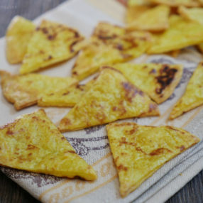 Paleo and Vegan Tortilla Chips by MyHeartBeets.com