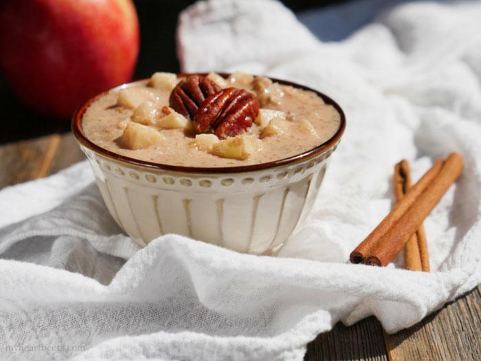 Apple Cinnamon N'Oatmeal (no oats!) by Ashley Thomas of MyHeartBeets.com