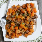 Spicy Ground Beef and Butternut Squash