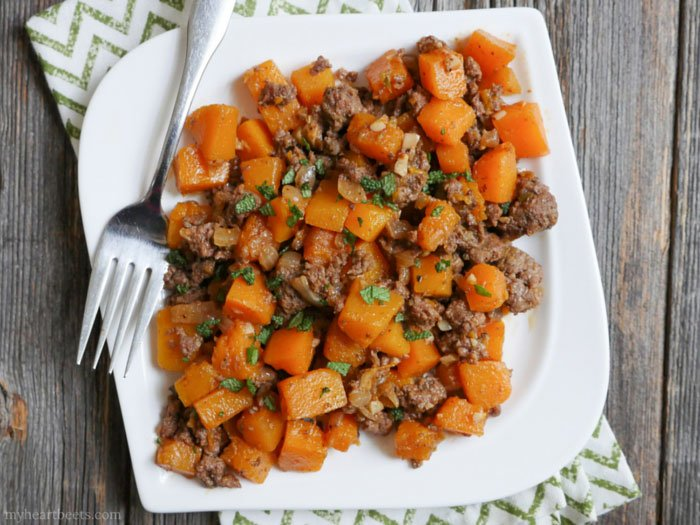 Ground Beef And Butternut Squash | Easy Ground Beef Recipes You'll Crave | healthy ground beef recipes quick easy