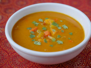 Mulligatawny Soup - paleo, no lentils, dary-free -- by Ashley of MyHeartBeets.com