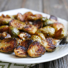 Roasted Chipotle Maple Brussels Sprouts by Ashley of MyHeartBeets.com