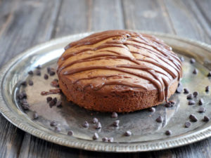 Flourless Peanut Butter Cake (gluten-free) by Ashley of MyHeartBeets.com