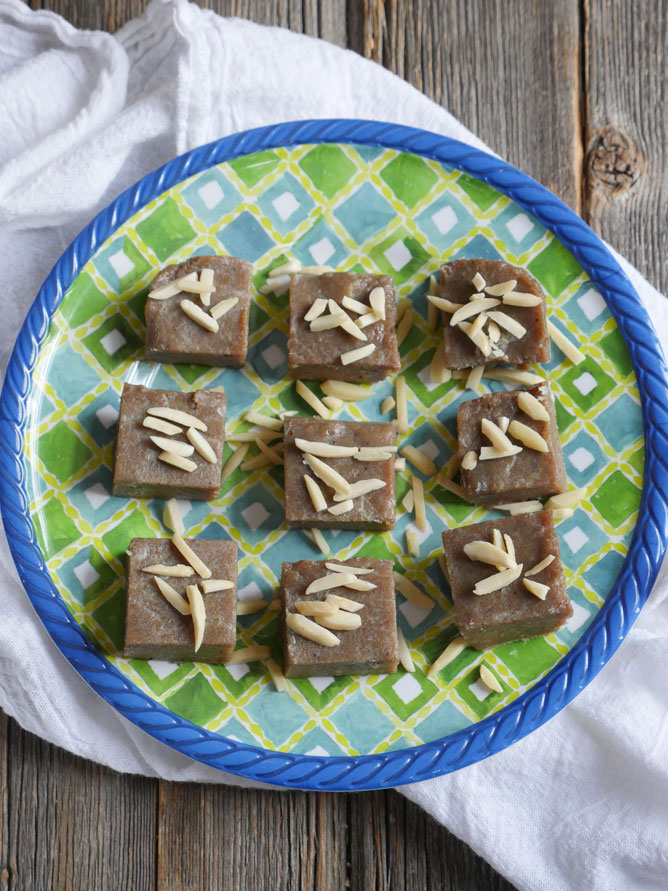 This 2-ingredient Banana Fudge is paleo, vegan, gluten-free, dairy-free, AND sugar-free! It's also a great way to use up ripe bananas! Recipe by Ashley of MyHeartBeets.com