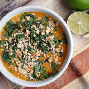 This Thai Butternut Squash Soup is a dairy-free and paleo-friendly recipe by Ashley of MyHeartBeets.com