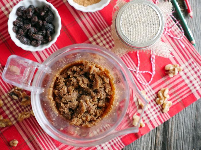 homemade cinnamon raisin walnut butter by Ashley of MyHeartBeets.com